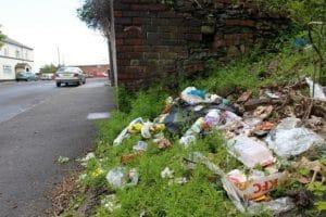 Rubbish page hall estate Sheffield